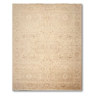 One-of-a-Kind Hollands Hand-Knotted Wool Tan Area Rug ByCanora Grey