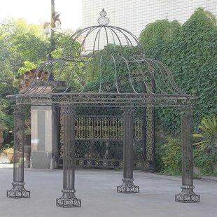 Linden 3.5m X 3.5m Metal Grill Gazebo By Astoria Grand