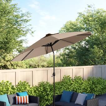 Sol 72 Outdoor Launceston 10 X 6 5 Rectangular Market Umbrella Reviews Wayfair