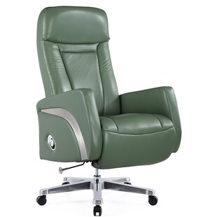 Felica Genuine Leather Executive Chair by Latitude Run Find