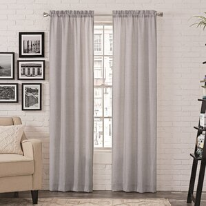 living room curtains and drapes. Eliam Solid Room Darkening Rod Pocket Curtain Panels  Set of 2 Modern Curtains and Drapes AllModern