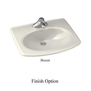 Kohler Pinoir Ceramic Oval Drop-In Bathroom Sink
