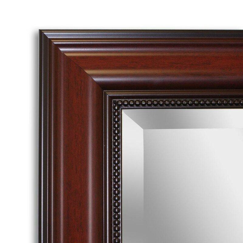 Mitchem Traditional Cherry Bathroom/Vanity Wall Mirror