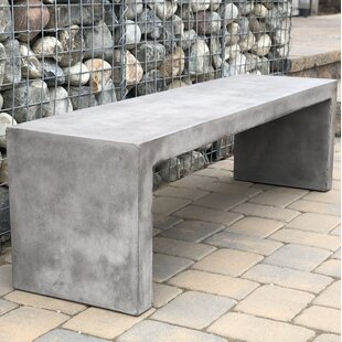 Colegrove Backless Concrete Garden Bench
