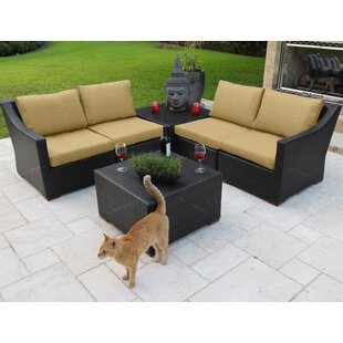 Bellini Home and Garden Marcelo 6 Piece Sunbrella Sofa Set with Cushions