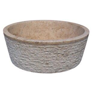 Best Brushed Natural Stone Circular Vessel Bathroom Sink By TashMart