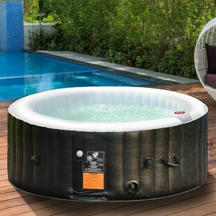 Review Caspar 4-Person 1-Jet Inflatable Plug And Play Spa