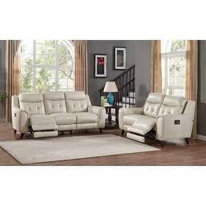 HYDELINE BY AMAX Paramount Leather 2 Piece Living Room Set