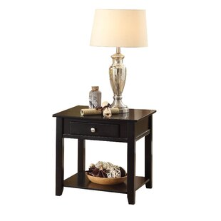 Matney One Drawer and One Shelf Wooden End Table by Winston Porter