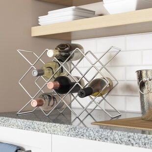 Jerlene 10 Bottle Tabletop Wine Rack by T..