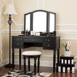Northmoore Vanity Set with Mirror by House of Hampton