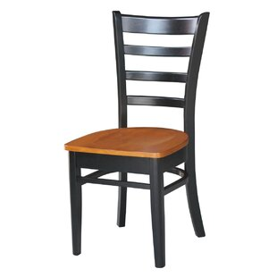 Bloomfield Solid Wood Dining Chair (Set of 2) Breakwater Bay