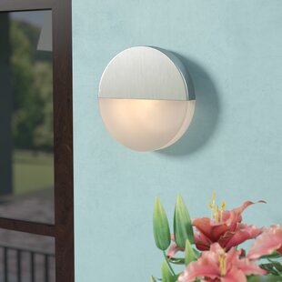 Brayden Studio Saddler 2-Light LED Outdoor Flush Mount