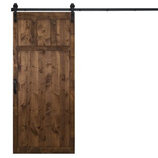 Craftsman Solid Panel Wood Slab Interior Barn Door by Dogberry Collections