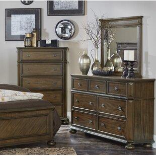 Malik 7 Drawer Dresser With Mirror by Millwood Pines Savings