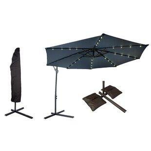 Trademark Innovations Offset Patio 10' Cantilever Umbrella