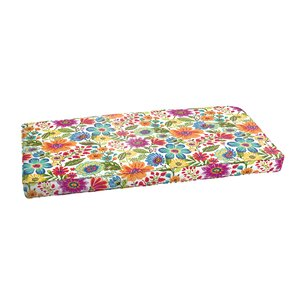 Paxton Floral Piped Indoor/Outdoor Bench Cushion