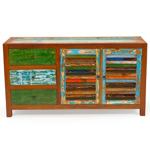 Sea Saw Reclaimed Wood Accent Cabinet