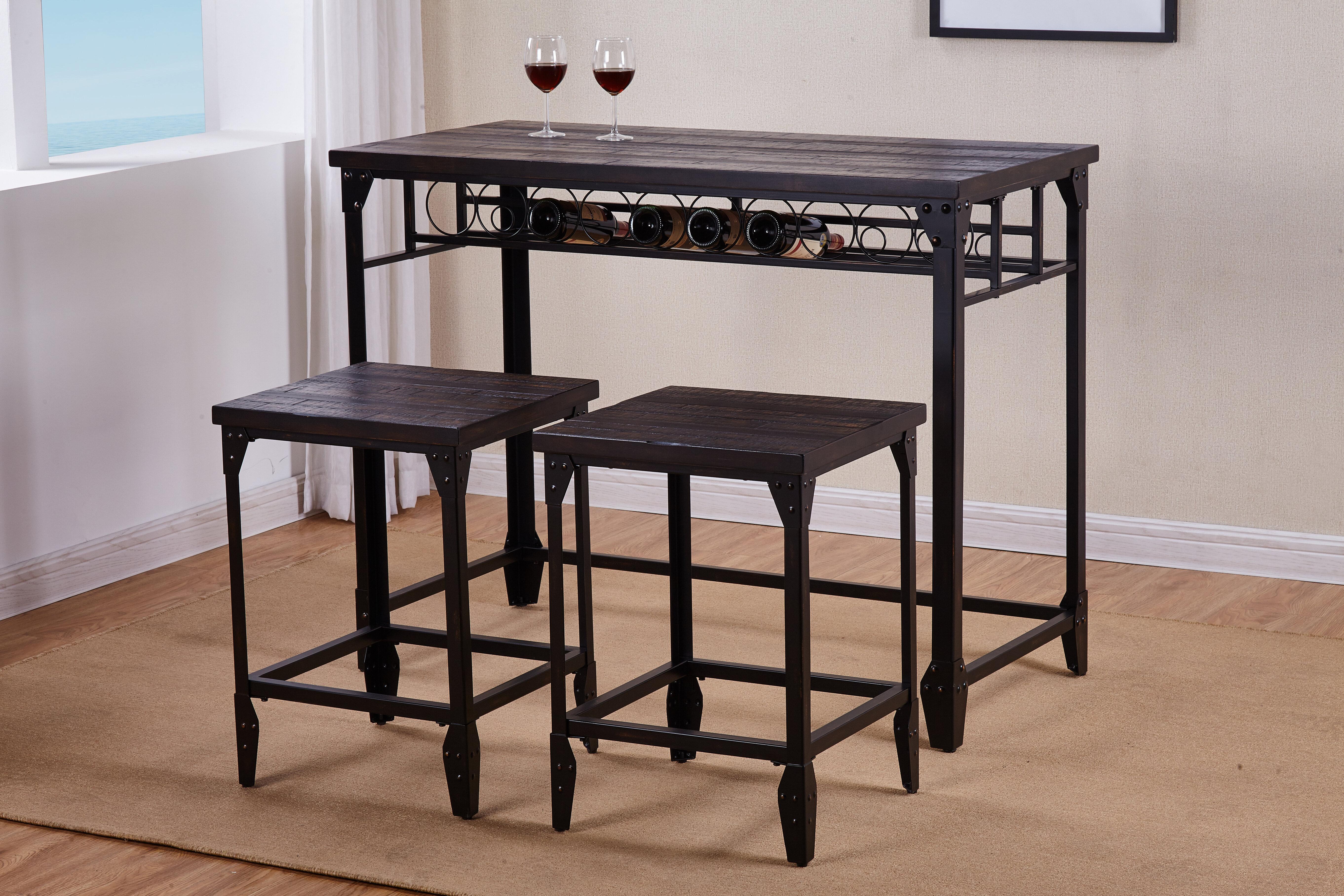 Greyleigh Arwood 3 Piece Counter Height Dining Table Set Reviews Wayfair