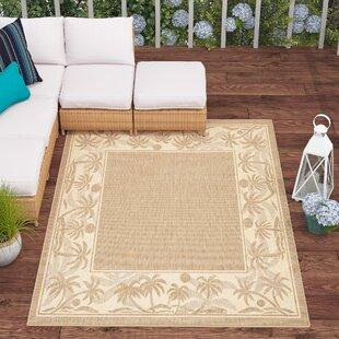 Julia Floral Beige Indoor/Outdoor Area Rug By Beachcrest Home