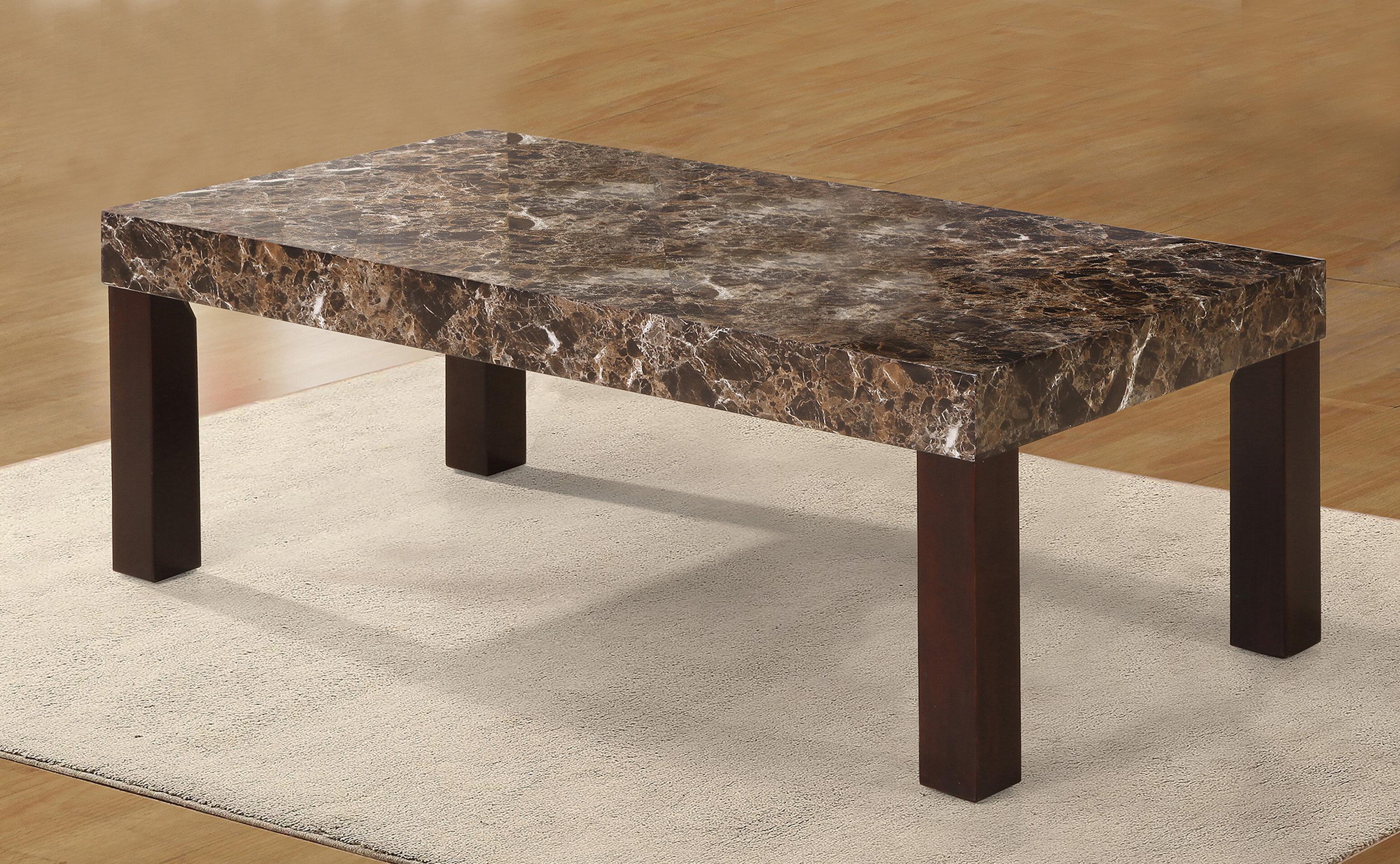Red Barrel Studio Mccullum Faux Marbelized Granite Coffee Table Reviews Wayfair