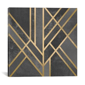 'Art Deco Geometry I' Graphic Art on Wrapped Canvas