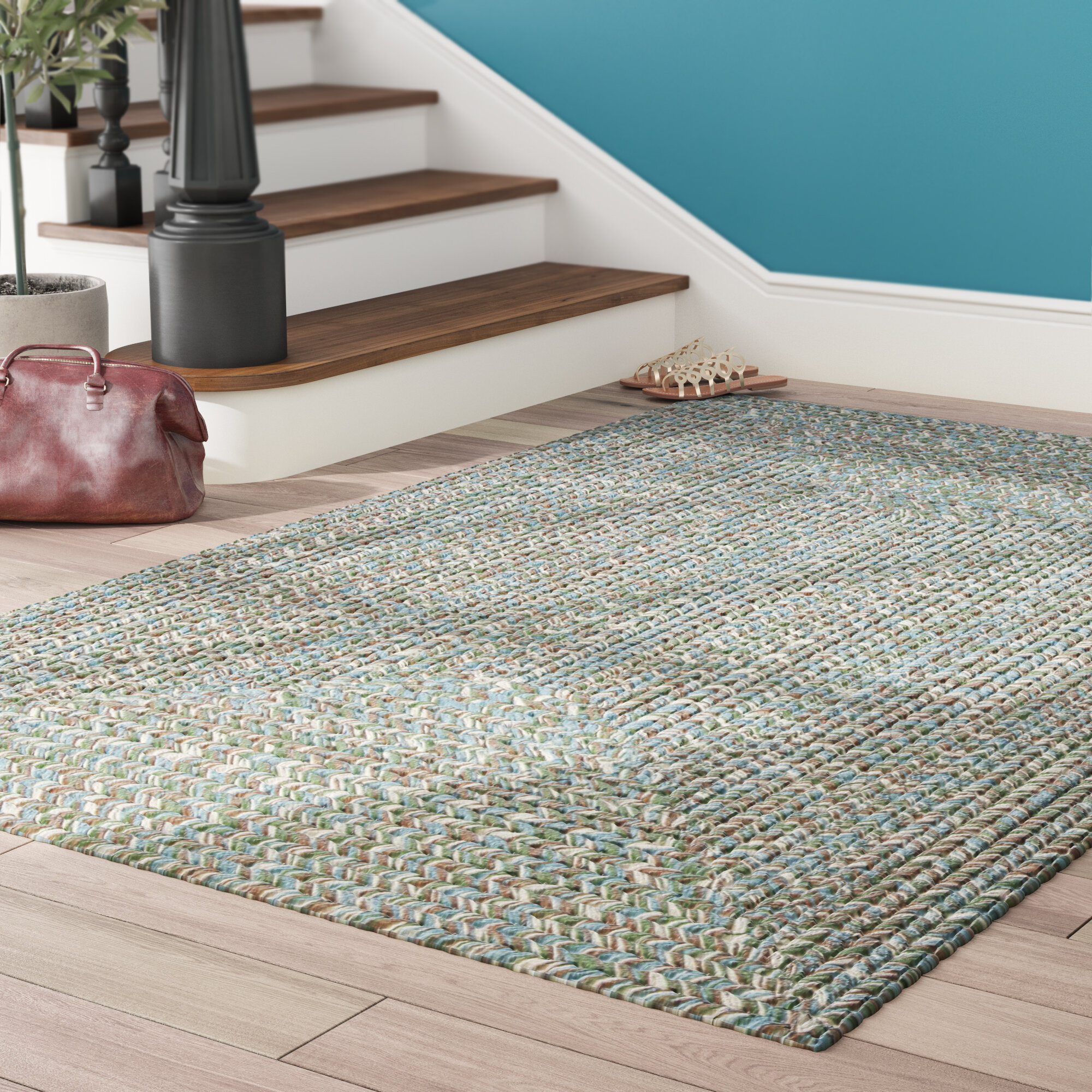 Winston Porter Beltran Seagrass Braided Area Rug Reviews Wayfair - Seagrass floor squares