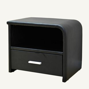 Greatime 1 Drawer Nightstand