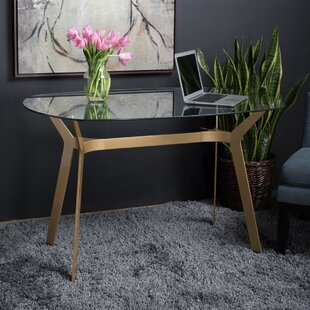 Carothers Modern Glass Desk by Mercer41 Today Only Sale
