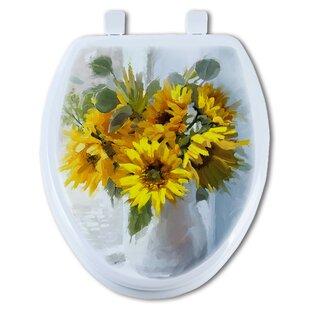 TGC Artisans Seats Sunflower Elongated Toilet Seat