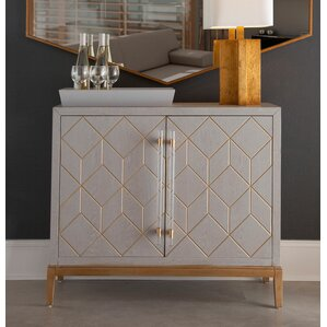 Thoroughly Modern Perrine Hospitality Cabinet by Bassett Mirror