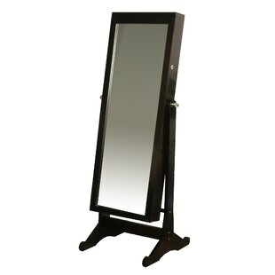 Cliffo Standing Jewelry Armoire with Mirror