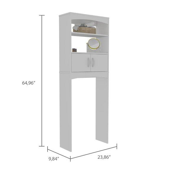 Latitude Run Hidevale 23 8 W X 64 9 H X 9 8 Over The Toilet Storage Reviews Wayfair