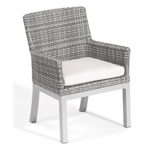 Latitude Run Lambright Patio Dining Chair with Cushion (Set of 2)