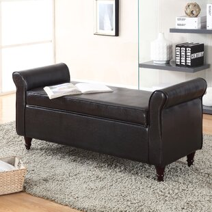 Superior Arbouet Faux Leather Storage Bench