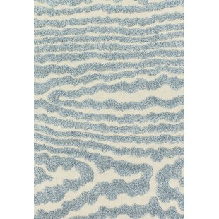Dania Ivory/Light Blue Area Rug by Wrought Studio