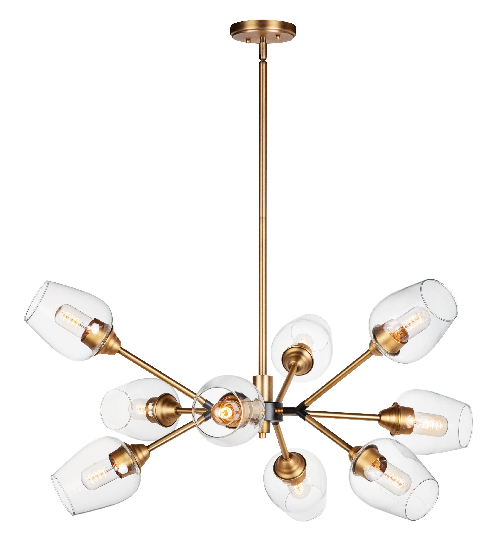Ivy Bronx Stange 9 Light Sputnik Modern Linear Chandelier Wayfair