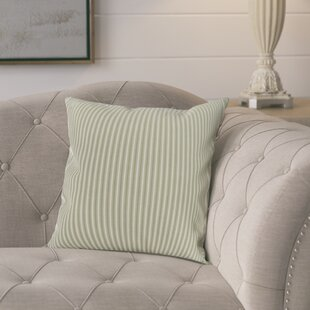 Kaylor Ticking Stripe Indoor/Outdoor Throw Pillow
