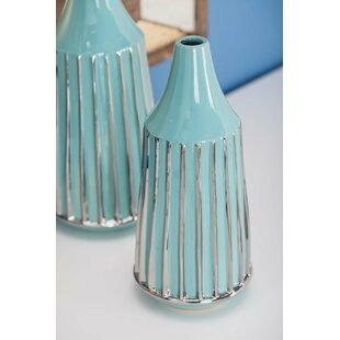 Minturn 2 Piece Rimmed Table Vase (Set of 2)
