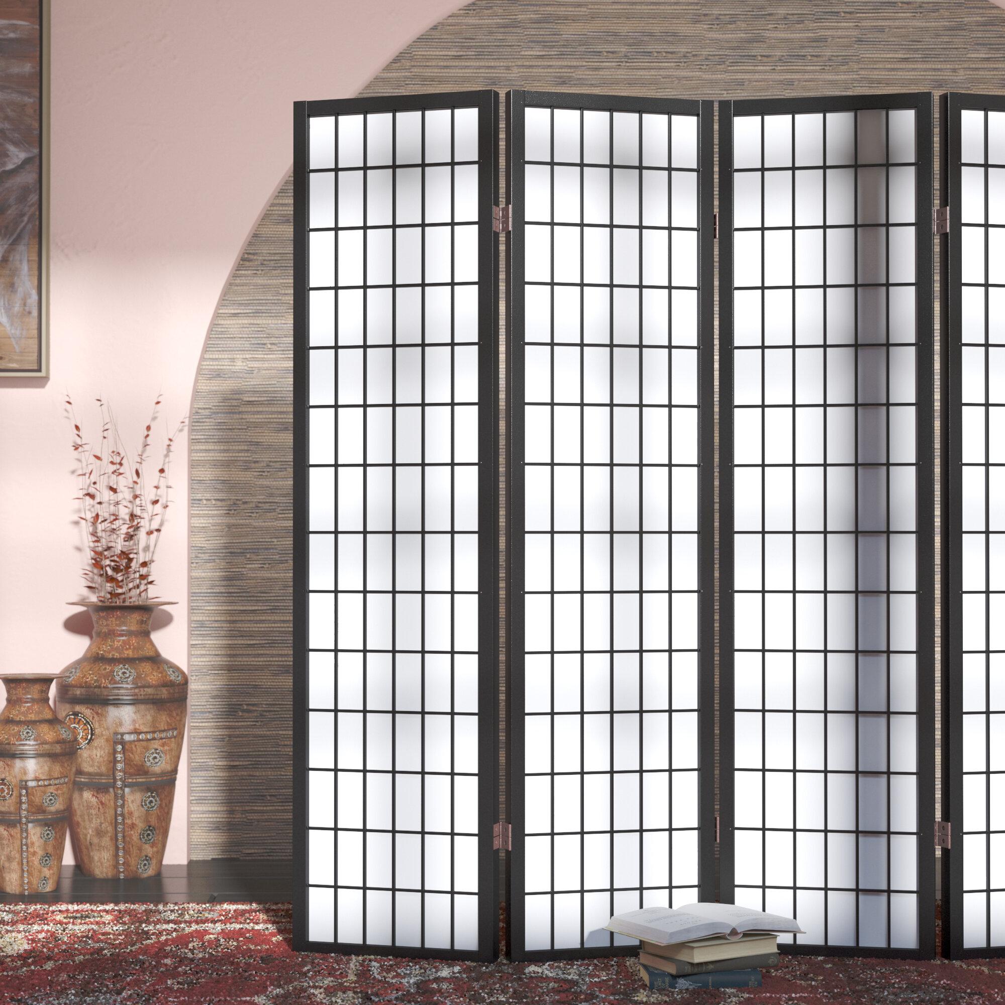 World Menagerie Hoceima 72 W X 71 H 4 Panel Folding Room Divider Reviews Wayfair