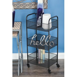 Metal Basket Bar Cart by Cole & Grey