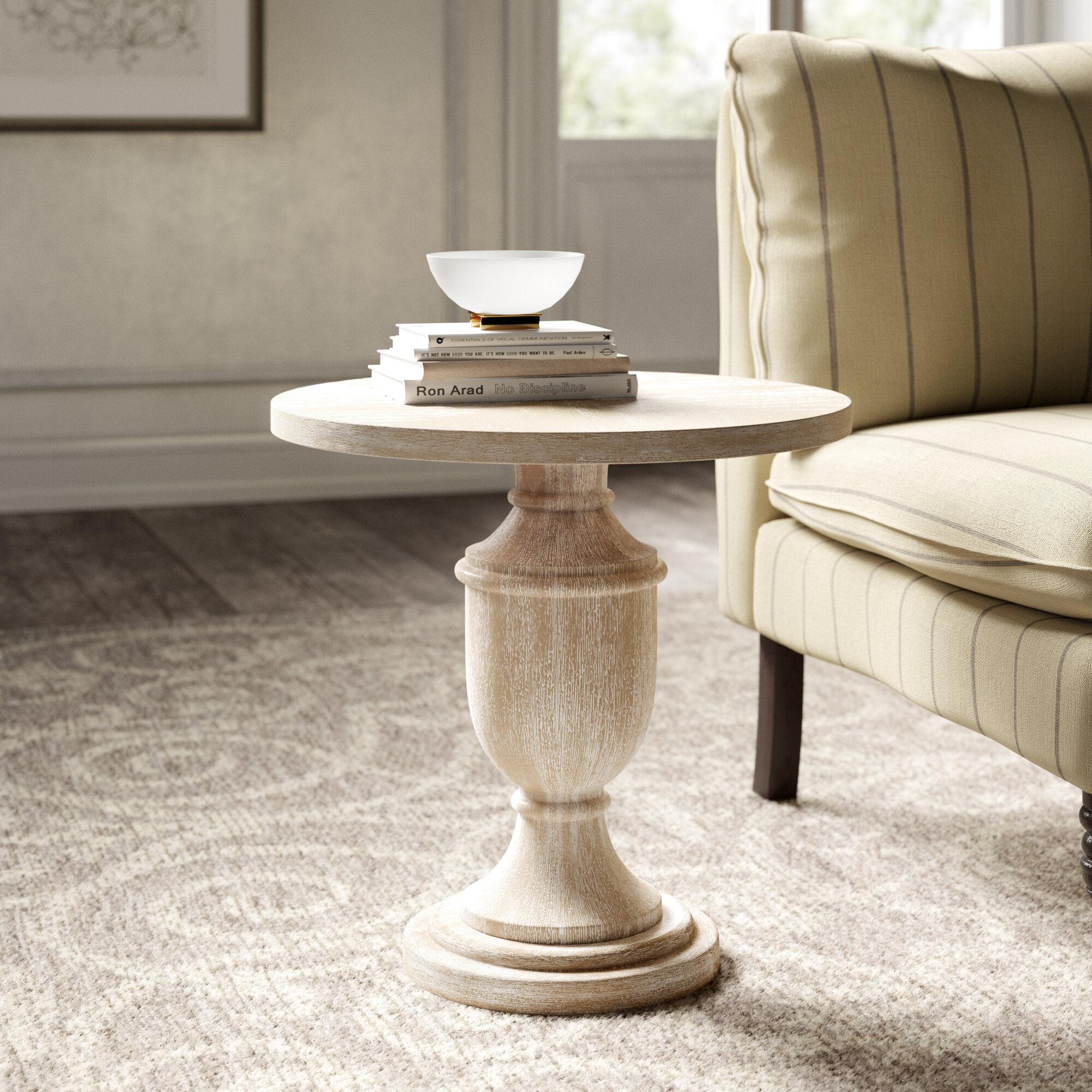Kelly Clarkson Home Dudley Pedestal End Table Reviews Wayfair