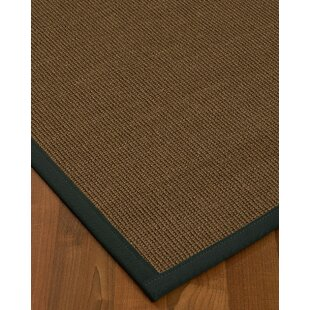 Coupon Kerner Border Hand-Woven Brown/Onyx Area Rug By Bayou Breeze