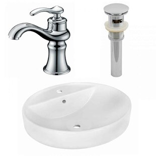 Compare Ceramic Oval Vessel Bathroom Sink with Faucet and Overflow ByRoyal Purple Bath Kitchen