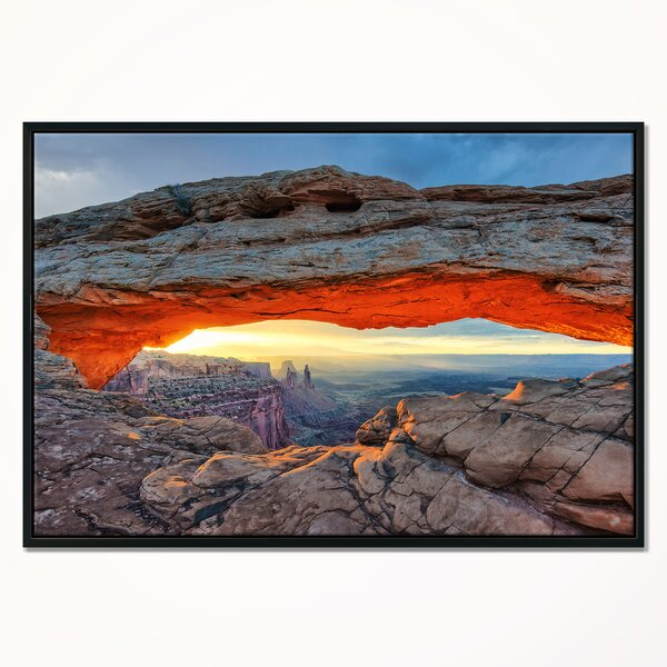East Urban Home Sunrise At Mesa Arch In Canyon Lands Framed Graphic Art Print On Wrapped Canvas Wayfair