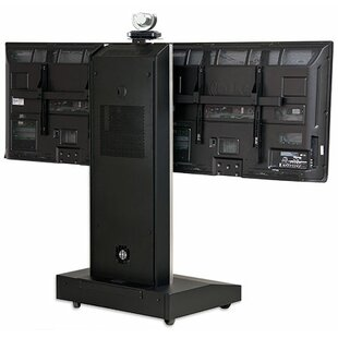 Top Reviews Moble Telepresence Stand with Dual Monitor Mount for 32 -70 Displays By VFI