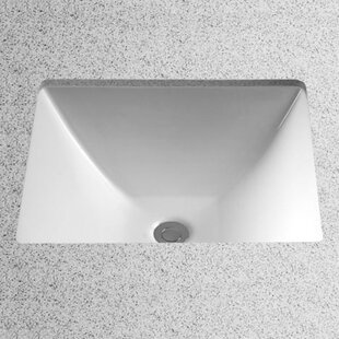 Legato Vitreous China Rectangular Undermount Bathroom Sink with Overflow Toto