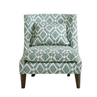 Ameche Swoop Slipper Chair Red Barrel Studio