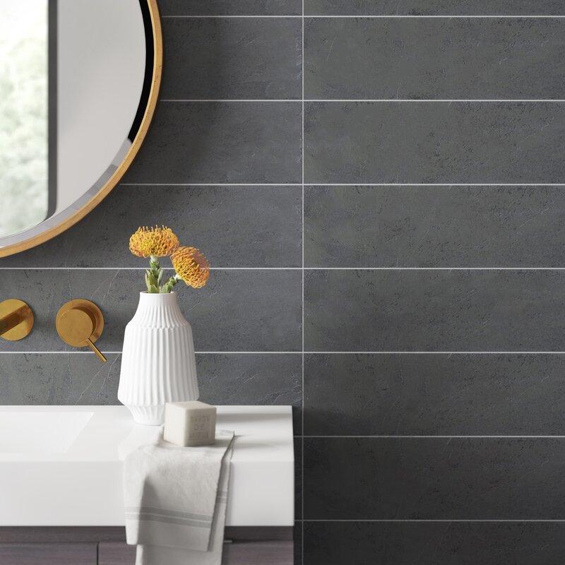 Karson 6 X 24 Natural Stone Field Tile In Black Reviews Allmodern