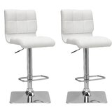 Burnham Adjustable Height Swivel Bar Stool (Set of 2) by Wade Logan®